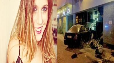 Brasileira sofre grave acidente de carro em Dubai.