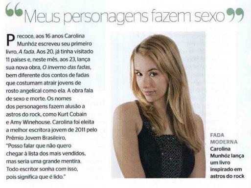 Carolina Munhóz na Revista Época