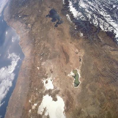 Foto satelital, Cordillera de los Andes, Sudamerica, Junio 1993