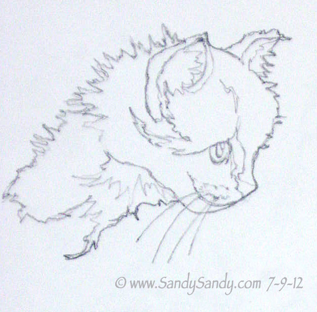 Contour Line Drawings Of Animals : Contour line drawing animal imgkid the image