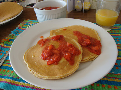 """the test nest: Whole Wheat Pancakes and """"The Sweet Spot"""""""