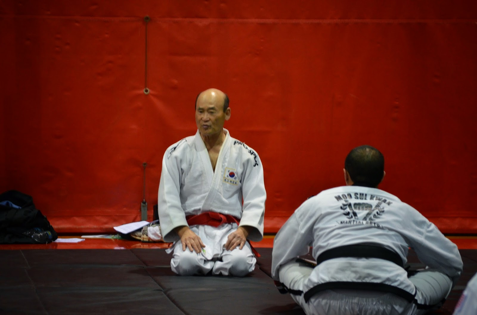 Judo Great Grandmaster Shin Talking to Students