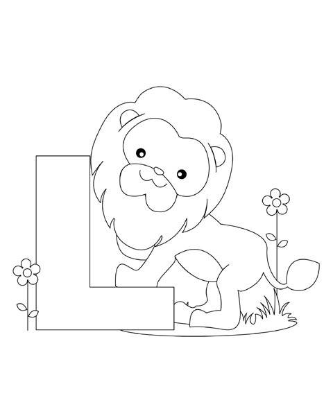 l coloring pages small - photo #45