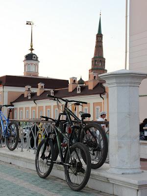 Велосипеды в Казанском кремле