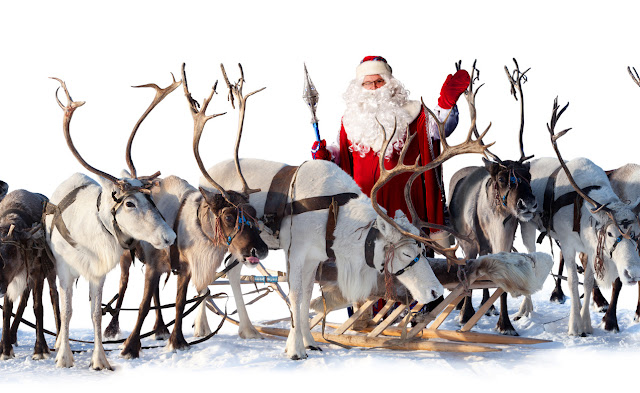 merry christmas pics deers and santa