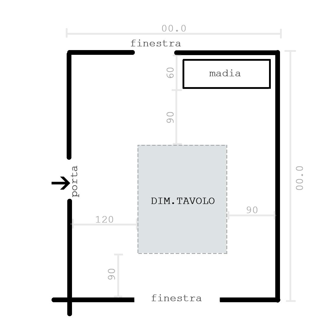 LEZIONE DI DESIGN Le Dimensioni Del Tavolo Da Pranzo #5A7171 1134 1134 Dimensioni Tavolo Da Pranzo Per 10 Persone