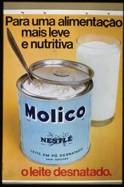 Propaganda do Leite Molico (leite em pó) da Nestlé no anos 70.