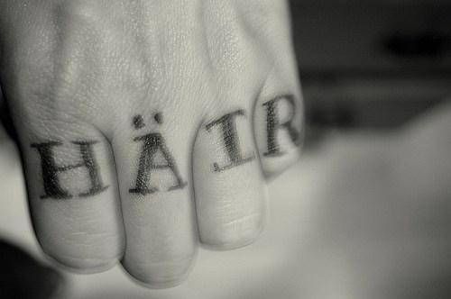 Creative tattoos love hate tattoo for Love n hate tattoo