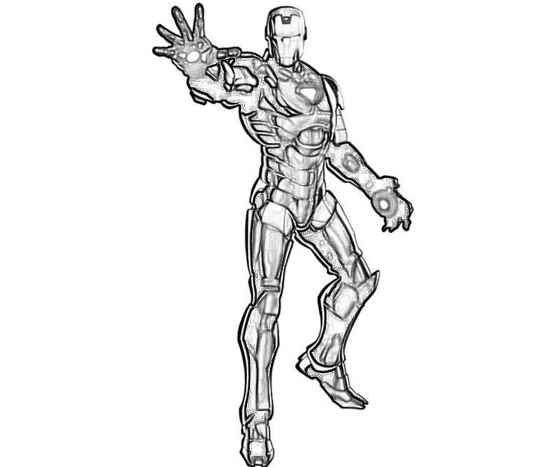 Marvel Vs Capcom Iron Man Character Yumiko Fujiwara Iron 3 Coloring Pages