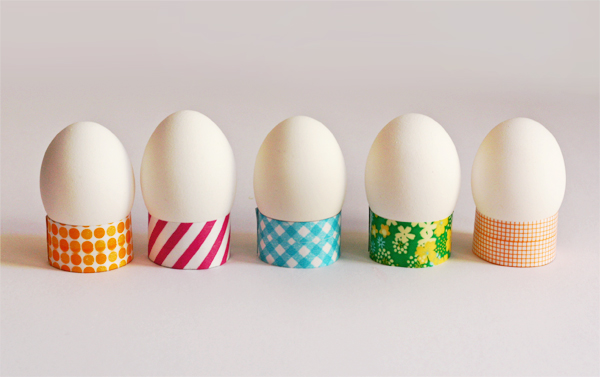 Easy washi tape Easter egg holders | How About Orange