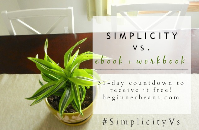 Receive the Simplicity Vs. ebook + workbook free October 31 only!