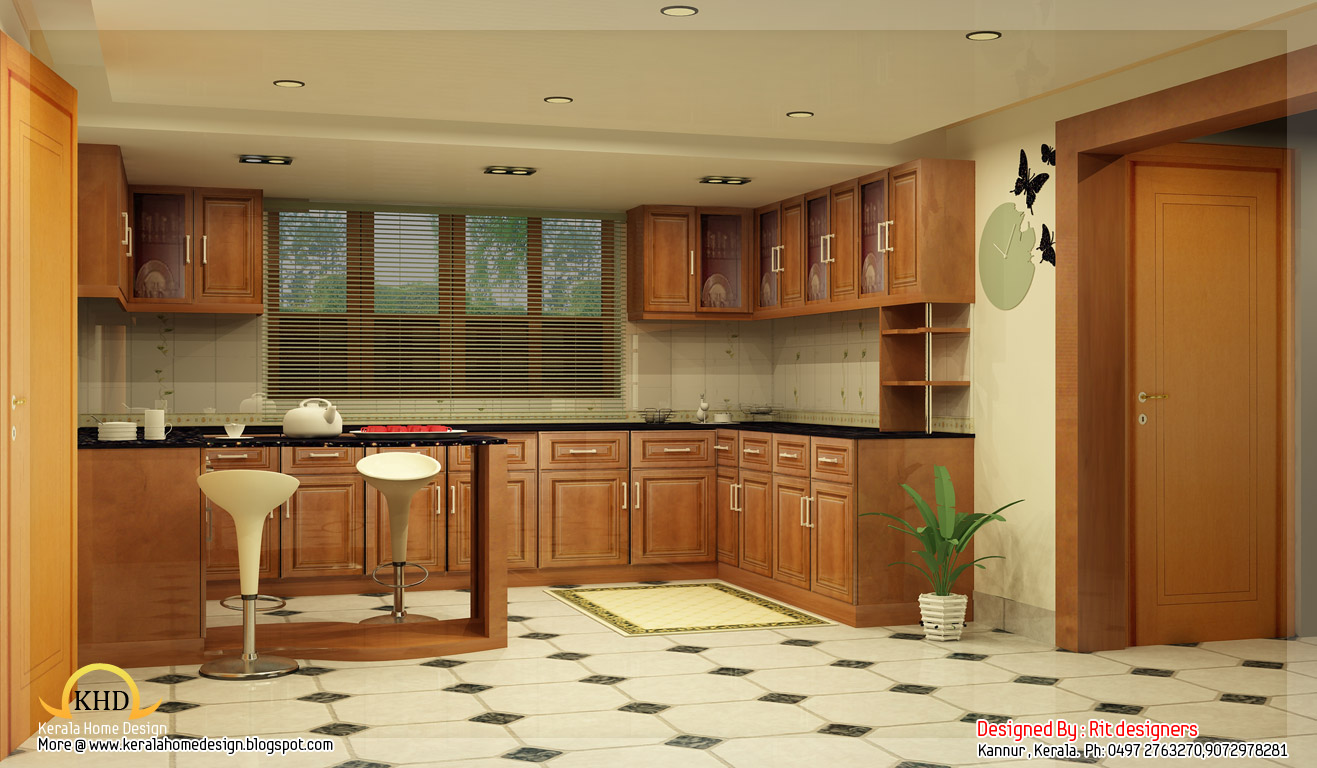Beautiful 3d interior designs kerala home design and for Kerala home interior designs photos
