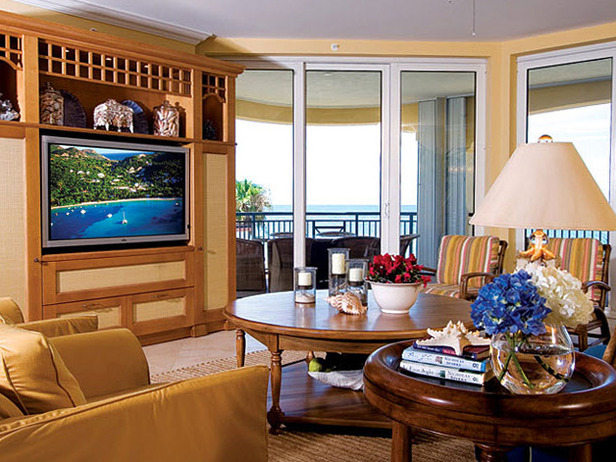 Tropical living room decorating ideas 2012 from hgtv modern