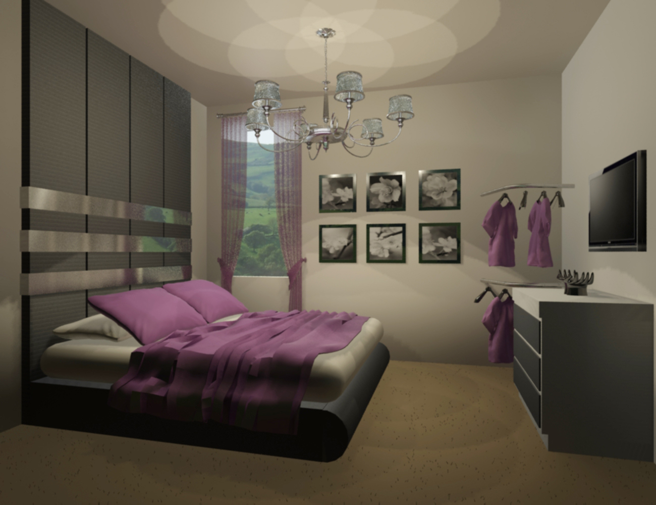 PandyInteriorDesigner English Old Version House Bedroom Design Idea