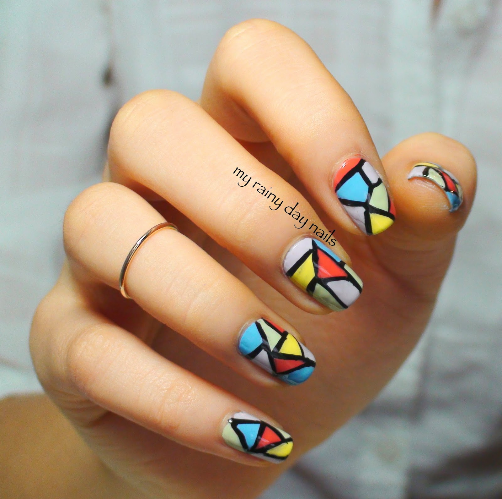 My Rainy Day Nails: Stained Glass Nails