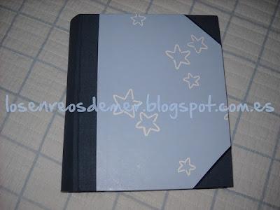 Funda de cuaderno realizada en cartonaje