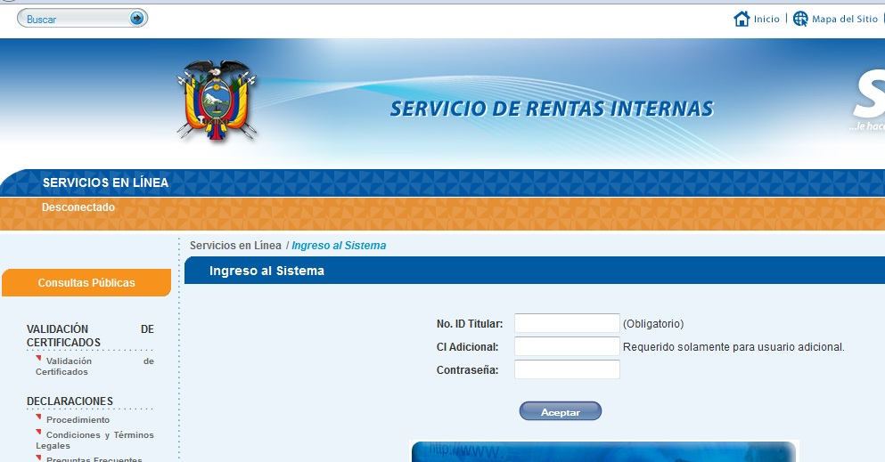 Resultado de imagen para servicio en línea servicio de rentas internas