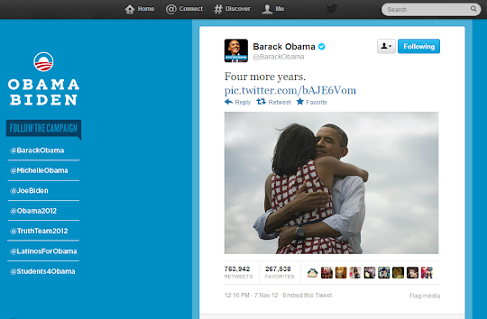 Barack Obama Photo, Most Popular Twitter and Facebook Posts
