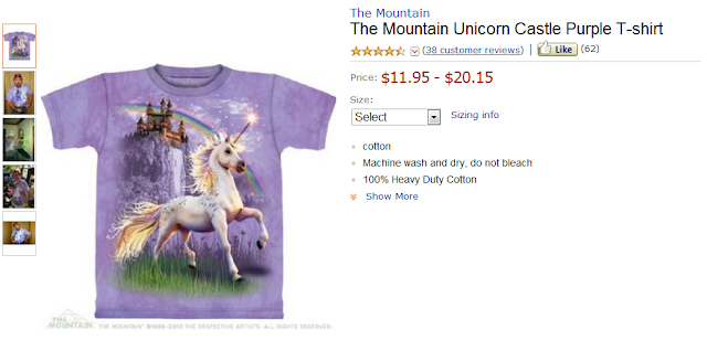 Funny Amazon Reviews, Product: The Mountain Unicorn Castle Purple T-shirt