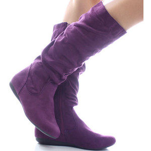 Suede Boots Purple2