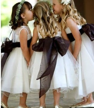 Bridesmaid Dresses with Sash Accent