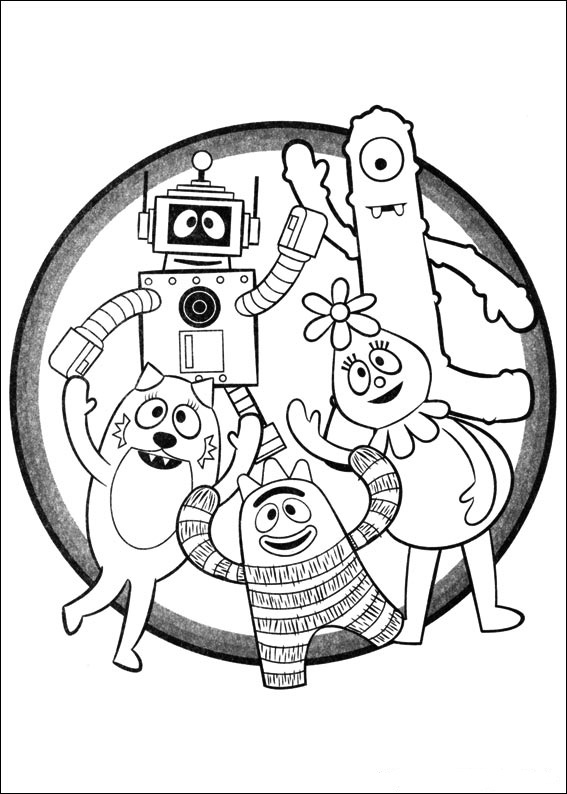 yogabbagabba coloring pages - photo #44