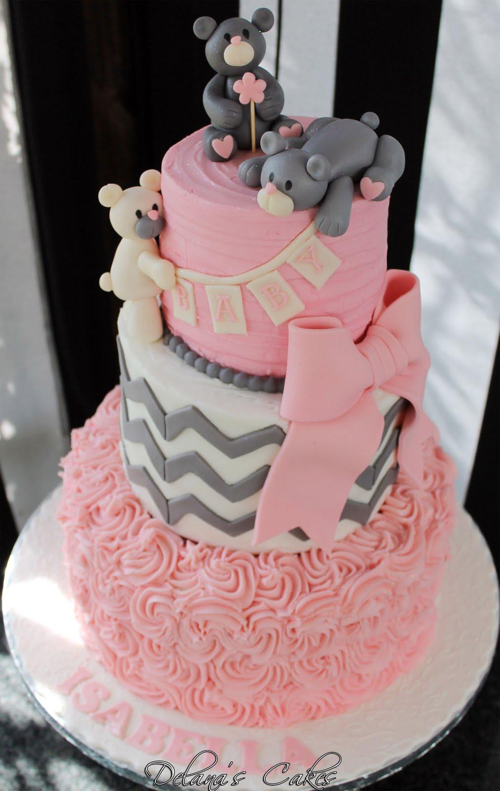Delanas Cakes Teddy Bear Baby Shower Cake
