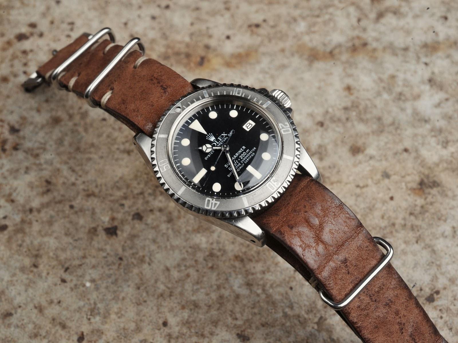 100PERCENT-Rolex: Full leather nato strap porn