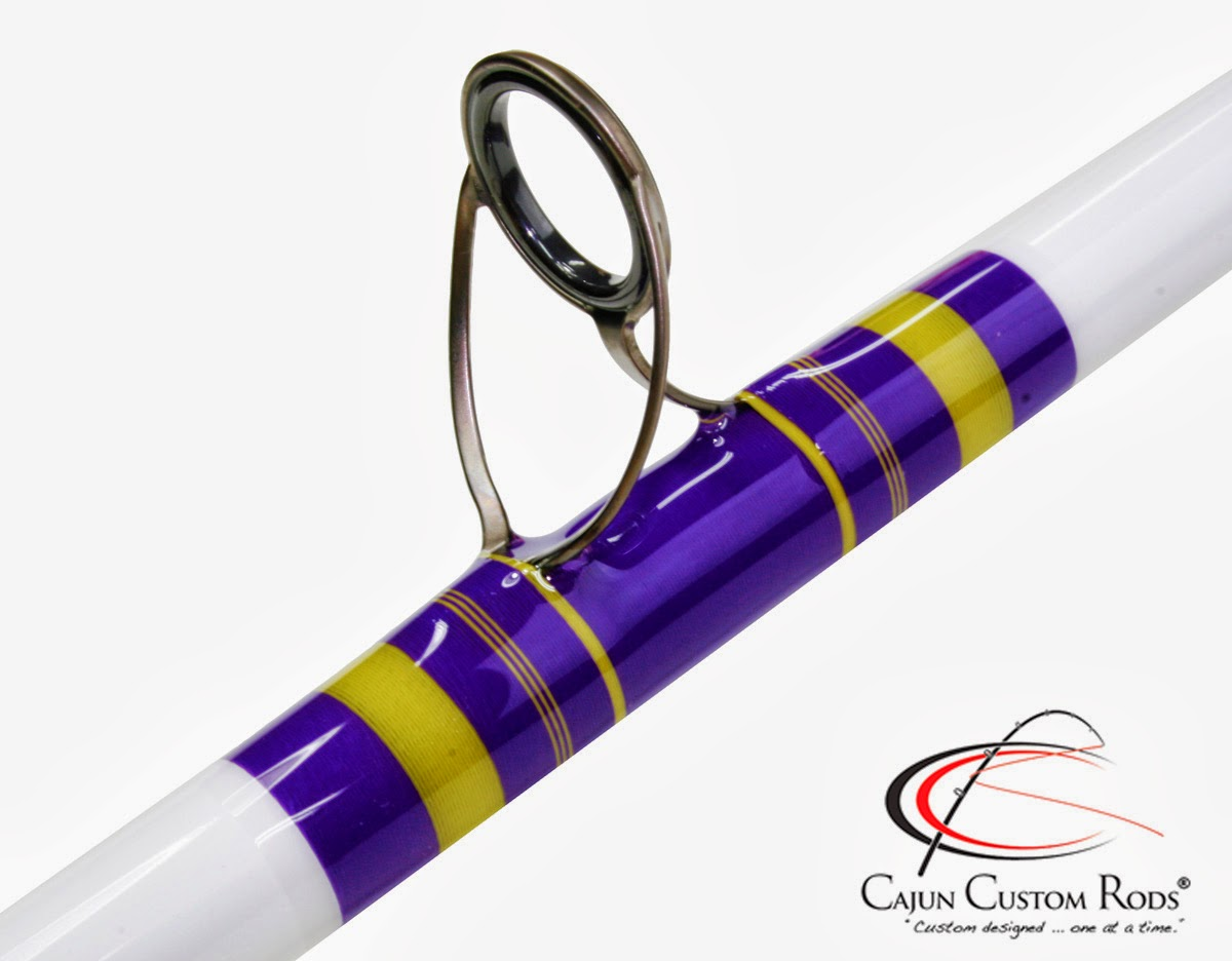 Cajun custom rods lsu tigers casting rod for Personalized fishing pole