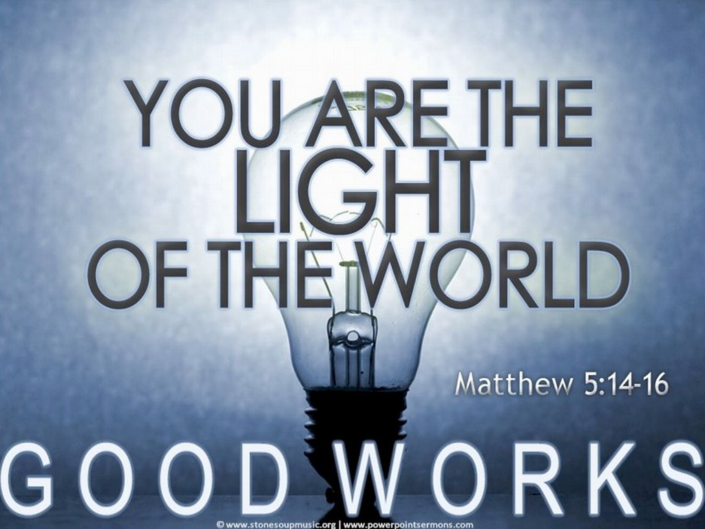 Christian wallpaper you are the light of the world 1024 x 768