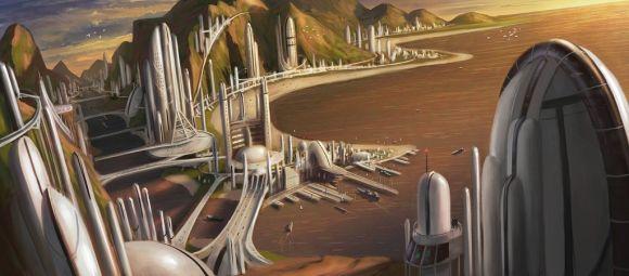 Timo Mimus crackbag deviantart ilustrações fantasia arte conceitual Cidade futurística