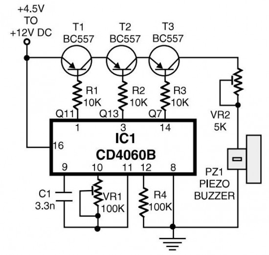 phone ringtone generator circuit design