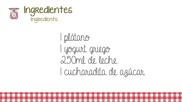 ingredientes smoothie