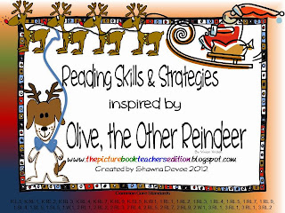 http://www.teacherspayteachers.com/Product/Olive-the-Other-Reindeer-Reading-Skills-Strategies-436665