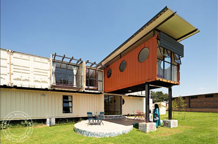 Columns and steel on pinterest - Are shipping container homes safe ...