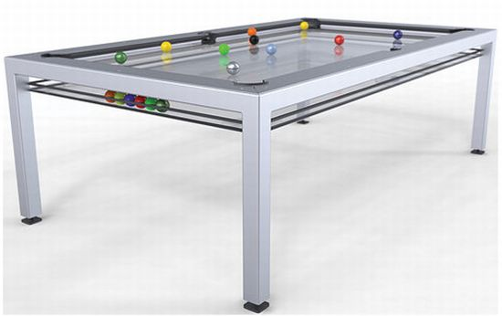 Glass Top G 4 Pool Table