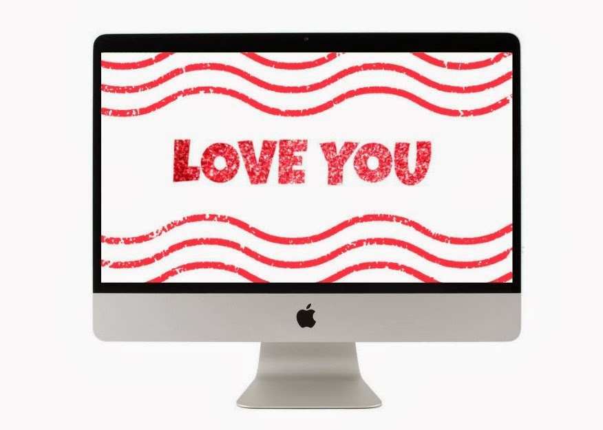 """Love you"" Free wallpaper download"
