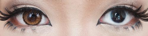 vassen jewel brown before after circle lens