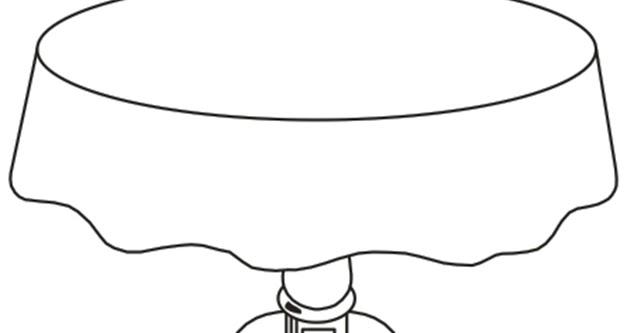 Dibujos mesa redonda related keywords dibujos mesa for Comedor para colorear