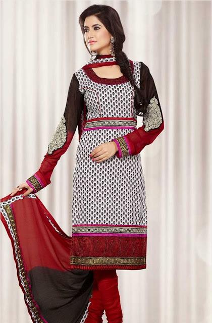Buy Online Trendy Cotton Salwar Kameez Neck Designs