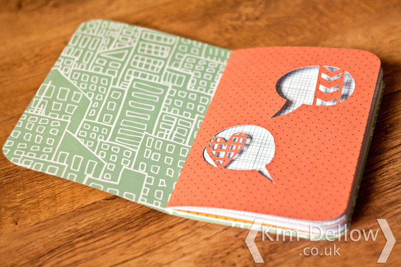 Inside of the DIY Cricut Explore notebooks