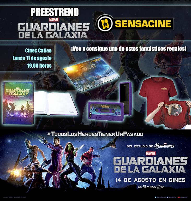 Concurso Sensacine Guardianes de la Galaxia