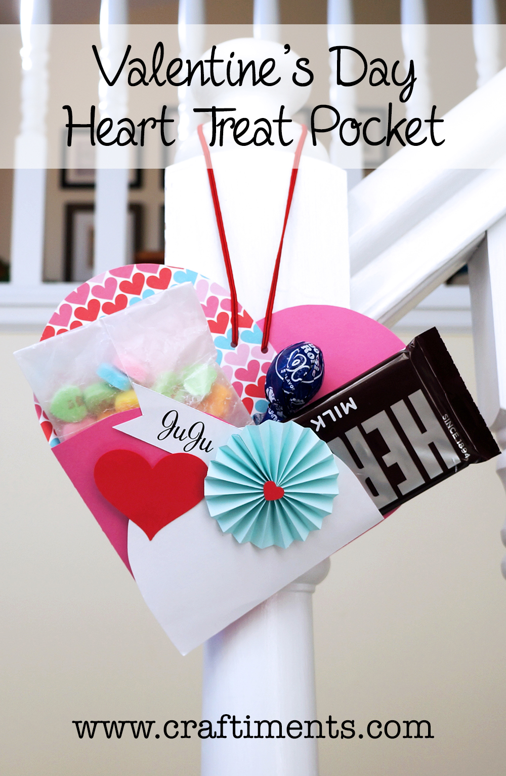 Valentine's Day heart treat pocket tutorial