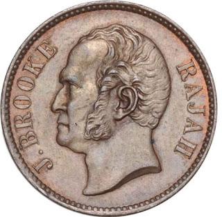 Sarawak Coins Half Cent 1863 James Brooke, Rajah of Sarawak