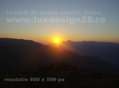 Poza rasarit de soare muntii Tarcului foto 1