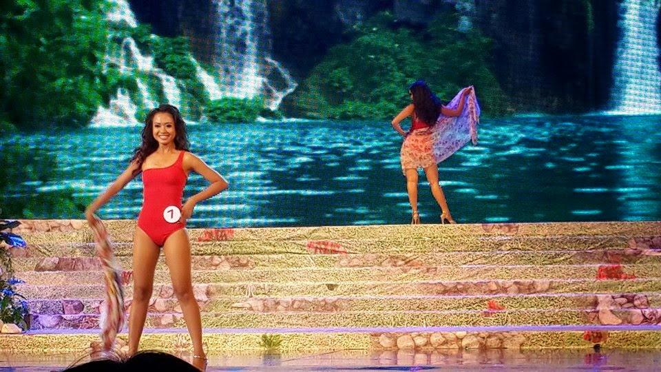 Miss Universe Myanmar 2014 - Swim Suit Walk Snapshots