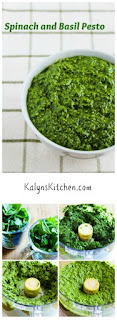 Spinach and Basil Pesto [from KalynsKitchen.com]