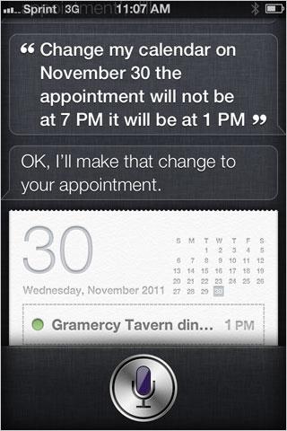 iOS Siri Calendar