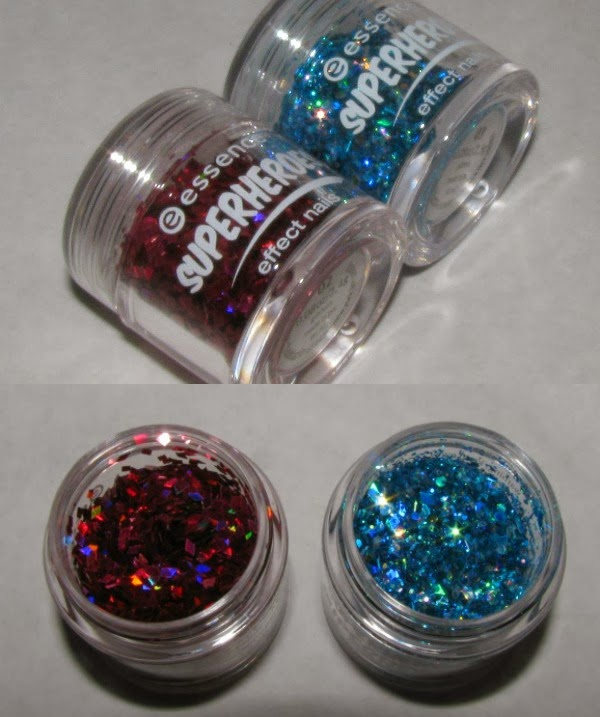 essence superheroes effect nails nail glitter