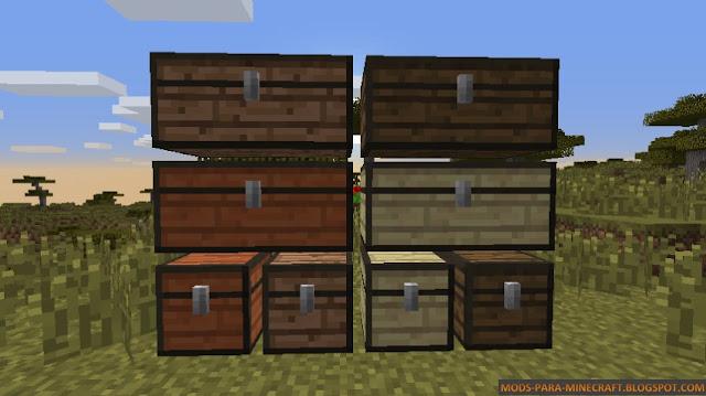 Cofres de más colores gracias al Mod WoodStuff Mod
